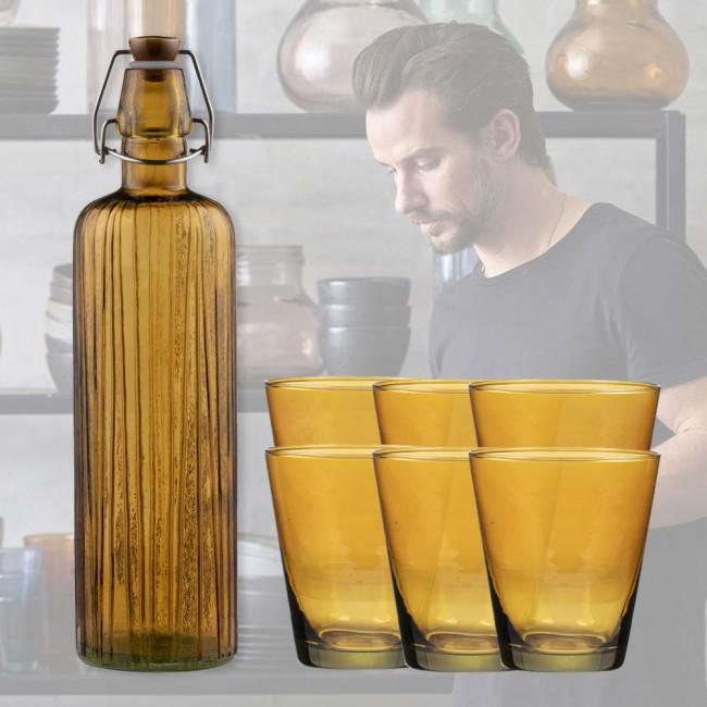 Bitz Kusintha water bottle 0,75L and 6 glasses