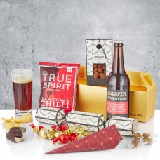 Gold box with beer