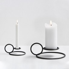Woud Radius Candle Holders