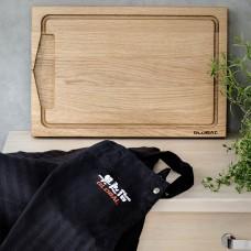 Global cutting board and apron