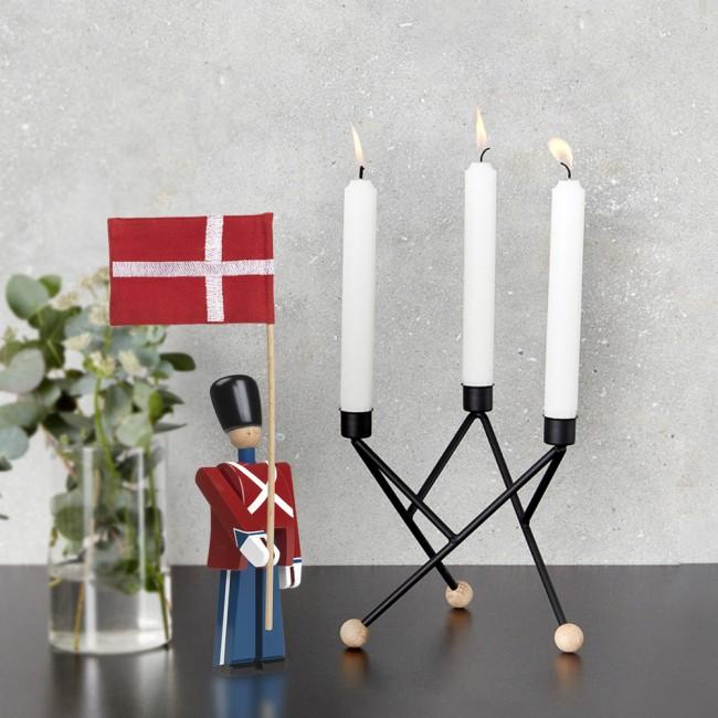 Kay Bojesen Fan Bearer and Andersen North Star Candleholder 17 cm