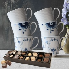 Royal Copenhagen 2 set History mix mugs & chocolate