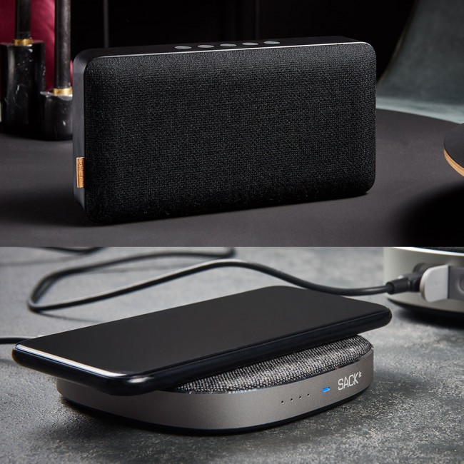 SACKit MOVEit X speaker & CHARGEit wireless charger