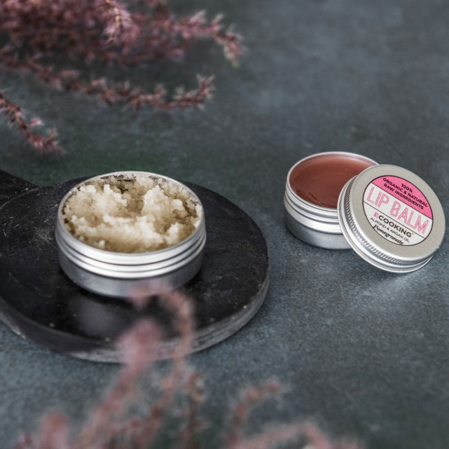 Ecooking Lip Balm Pomegranate and Lip Scrub