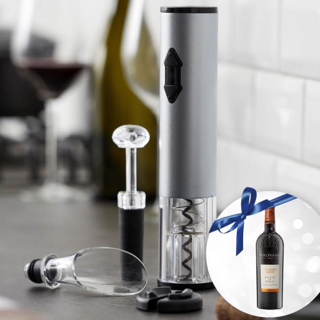 Nordic Sense wine opener set and wine