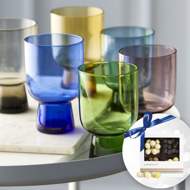 Lyngby Glass tumbler set & Lakridseriet