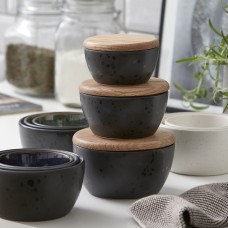 Bitz stoneware bowl set with oak tree lids
