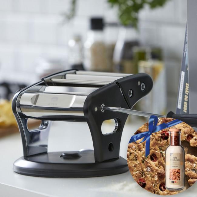 HOLM Pasta Machine & Bottles by Malund Foccacia Bred Mix