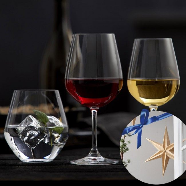 Lyngby Glas Wineset With 18 parts