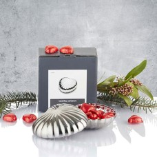 Georg Jensen Heart Bonbonniere with red chocolate hearts