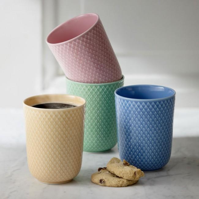 Lyngby Porcelain Rhompe color Mugs