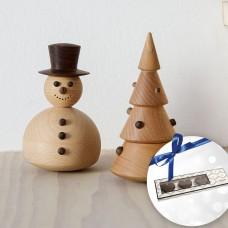 Spring Copenhagen Christmas tree, snowman & Cocoture marzipan hearts