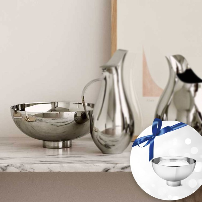 Georg Jensen Ilse bowls, medium and large