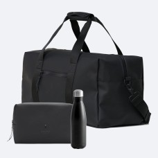 Rains gymbag, washbag & sagaform steel bottle