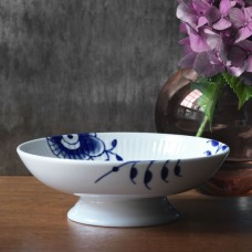 Royal Copenhagen Blue Mega Fluted bowl on foot