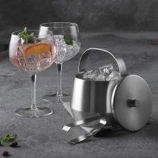Luigi Bormioli Gin and Tonic Glasses incl ice bucket and pliers