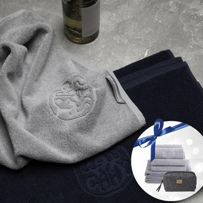 Georg Jensen Damask towel package & toiletbag