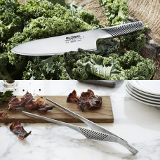 Global sæt med kokkekniv & madpincet