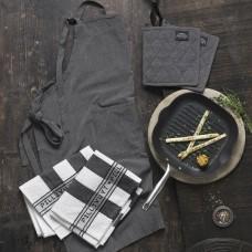 Pillivuyt Gourmet Garonne støbejerns grillpande & Pillivuyt tekstilsæt