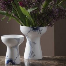 Royal Copenhagen Stor Blå Mega Riflet vase