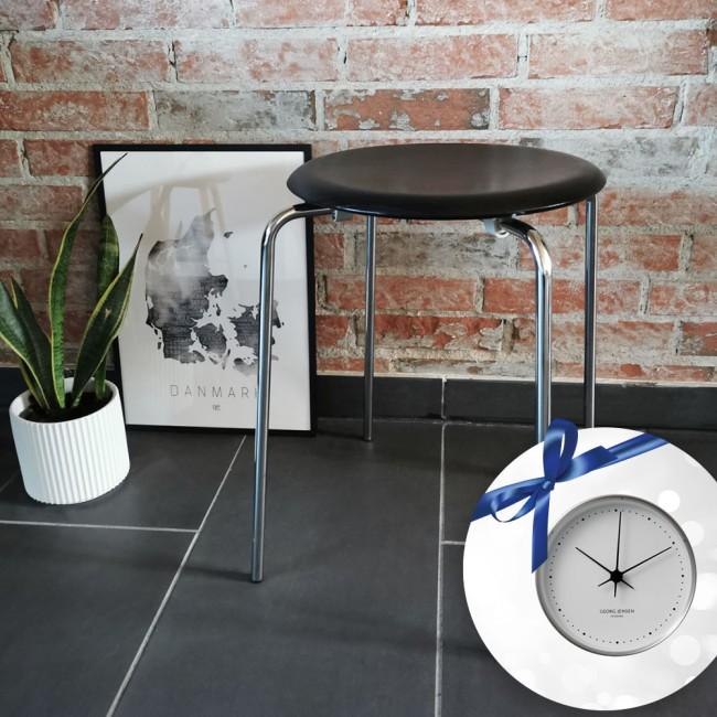 Arne Jacobsen DOT™ skammel & Georg Jensen vægur