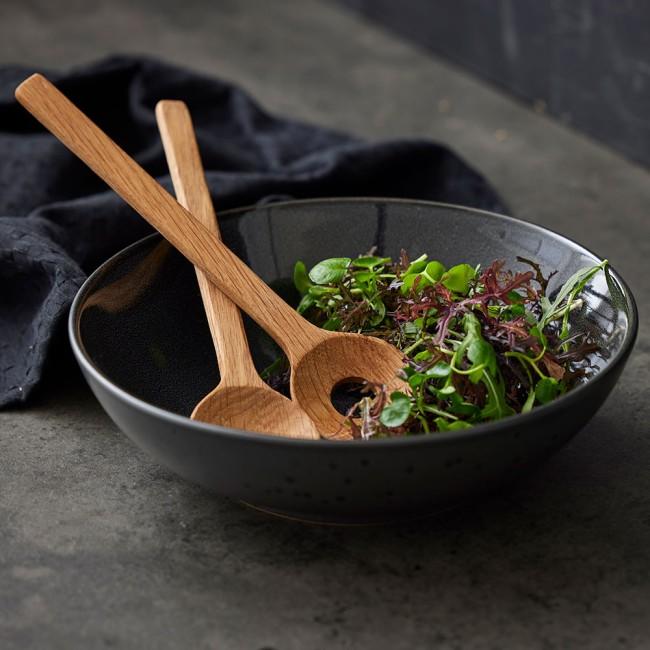 Bitz Lille Salatsæt, sort / bronze
