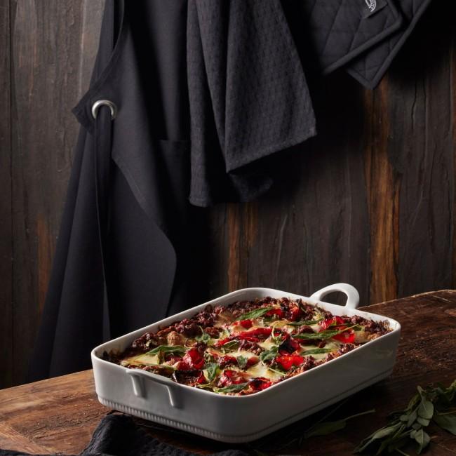 Pillivuyt lasagnefad & køkkentekstilsæt