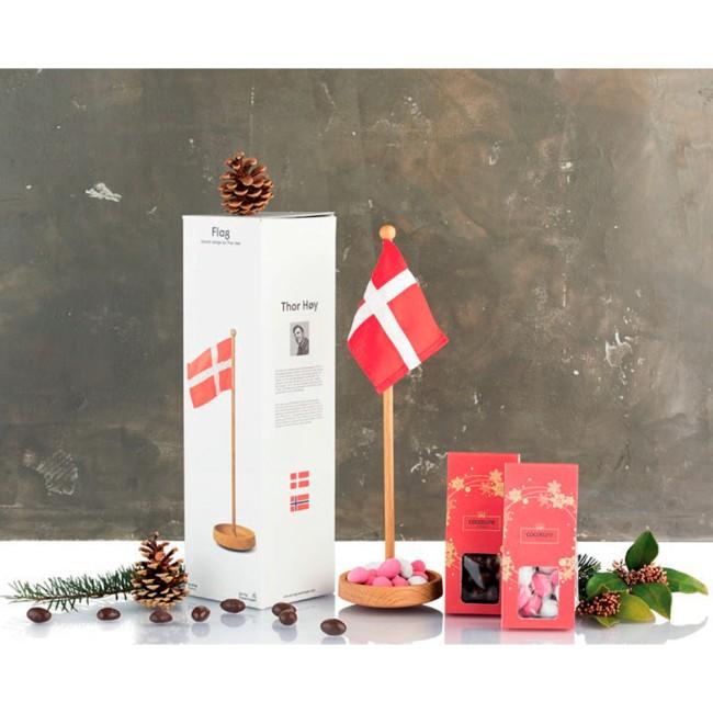 Spring Copenhagen bordflag og chokolade