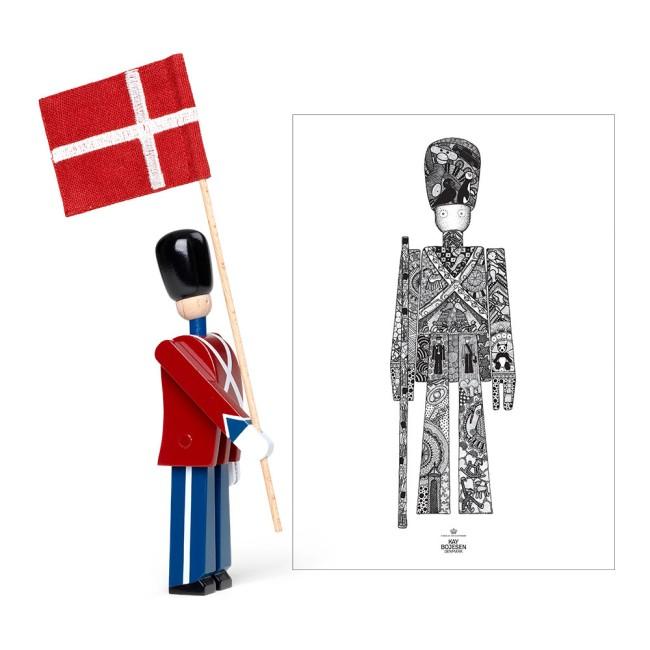 Kay Bojesen mini fanebærer og garder plakat