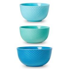 Lyngby Porcelæn Rhombe Color serveringsskåle, 3 stk
