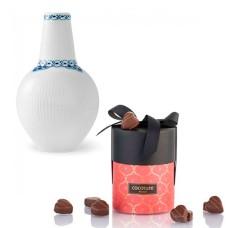 Royal Copenhagen Prinsesse vase og chokolade