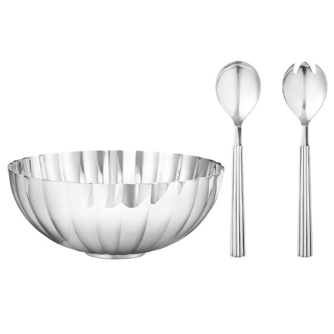 Georg Jensen Bernadotte skål, Medium + Salat serveringssæt
