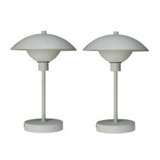 Dyberg Larsen Roma LED table lamp, white, 2 pcs