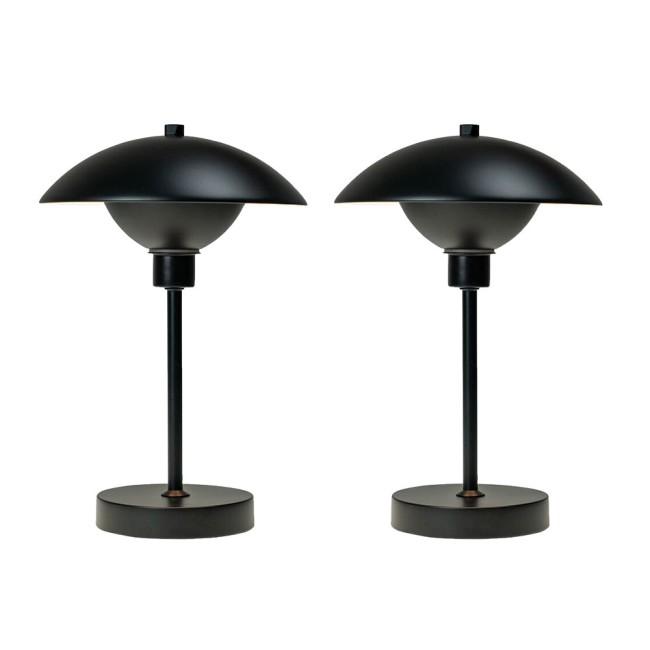 Dyberg Larsen Roma LED table lamp, black, 2 pcs