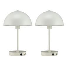 Dyberg Larsen Stockholm LED lampe, hvid, 2 stk.