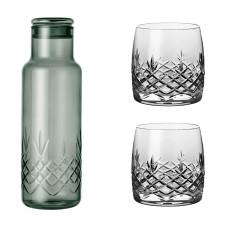 Frederik Bagger Crispy Dark Bottle (1000ml) med 2 Aqua glas