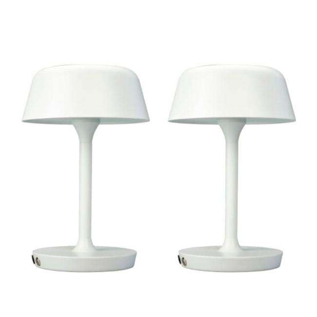 Dyberg Larsen Valencia bordlampe, hvid, 2 stk.