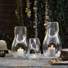 Holmegaard Design With Light lanternesæt (klar glas), 16 cm, 25 cm og 29 cm