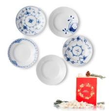 Royal Copenhagen tallerkener, 5 stk og nougat