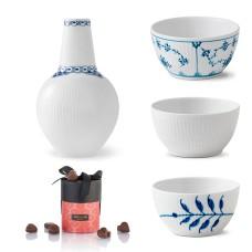 Royal Copenhagen skålesæt, Prinsesse vase og marcipanhjerter