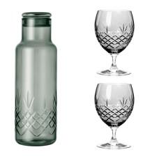 Frederik Bagger Crispy Dark Bottle (1000ml) med 2 Eightball glas