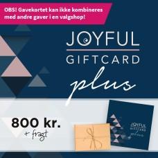 Joyful Gavekort til 800kr. gaveshop