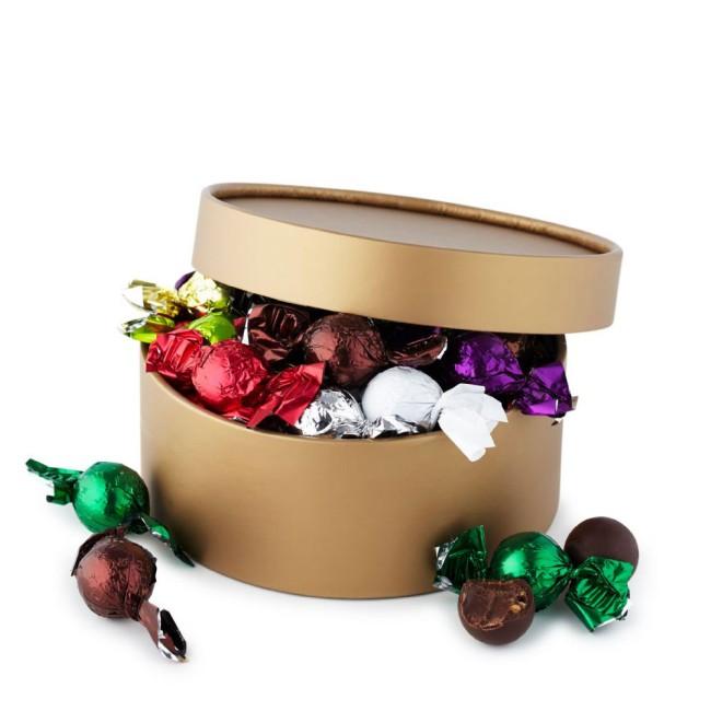 Stuffed chocolate balls