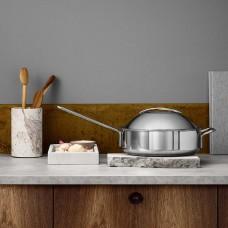 Eva Trio stainless saute pan with dome lid