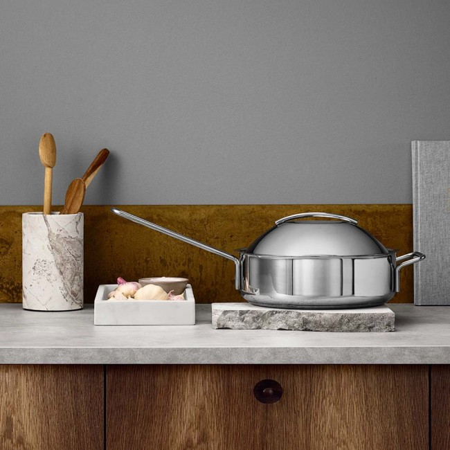 Eva Trio stainless saute pan with dome lid