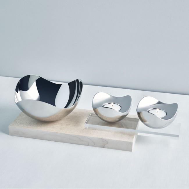 Georg Jensen Bloom bowl and Tealights