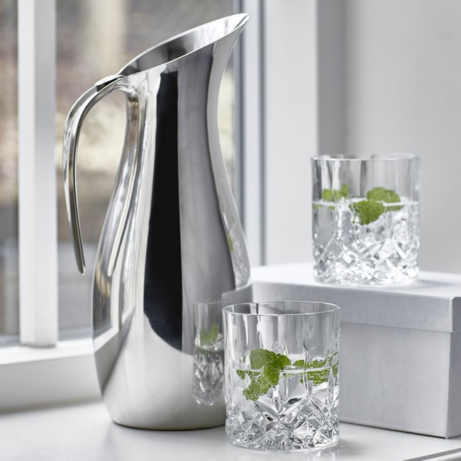 Nuance jug and Lyngby glass