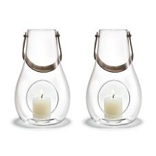 Holmegaard Design With Light lanternesæt (klar glas), 25 cm