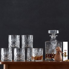 Lyngby Glass Melodia Whiskey set & Achitectmade bird small & liquorice