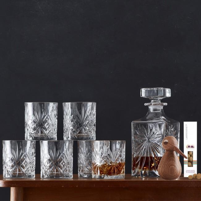 Lyngby Glass Melodia Whiskey set & Achitectmade bird small & liquorice